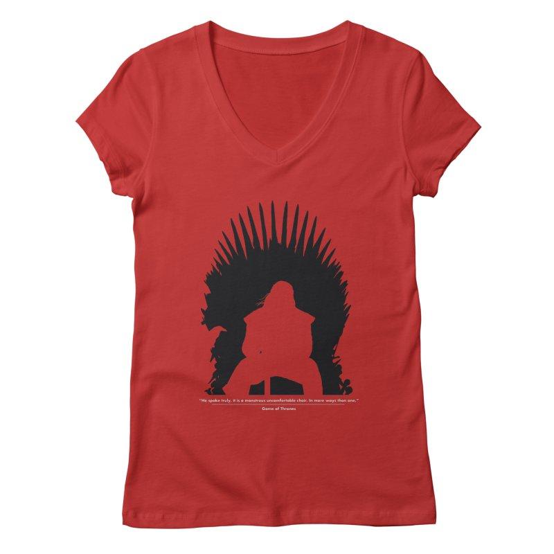 The Iron Throne Women's Regular V-Neck by Donal Mangan's Artist Shop
