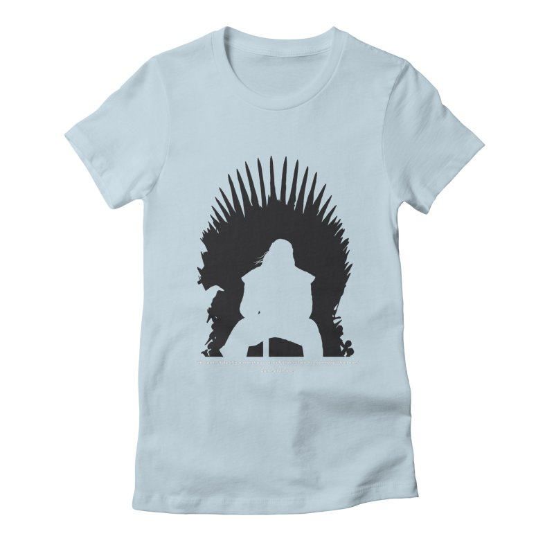 The Iron Throne Women's Fitted T-Shirt by Donal Mangan's Artist Shop