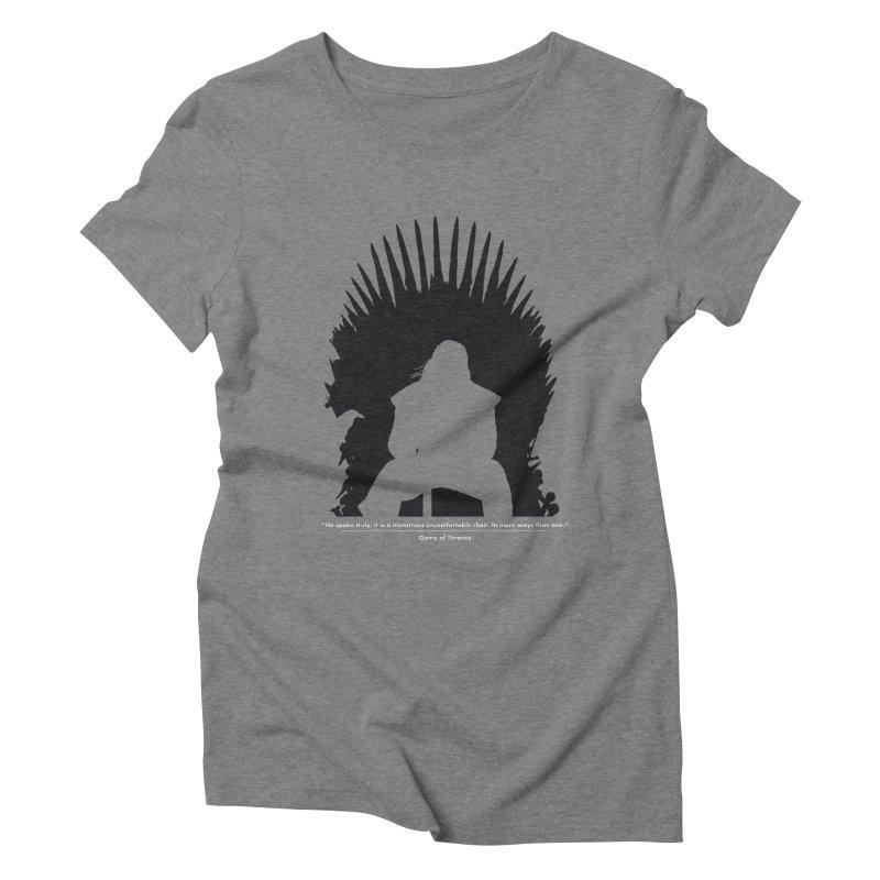 The Iron Throne Women's Triblend T-shirt by Donal Mangan's Artist Shop