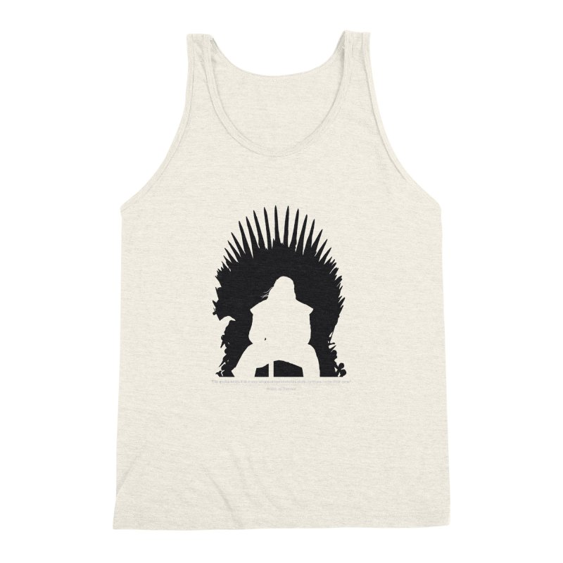 The Iron Throne Men's Triblend Tank by Donal Mangan's Artist Shop