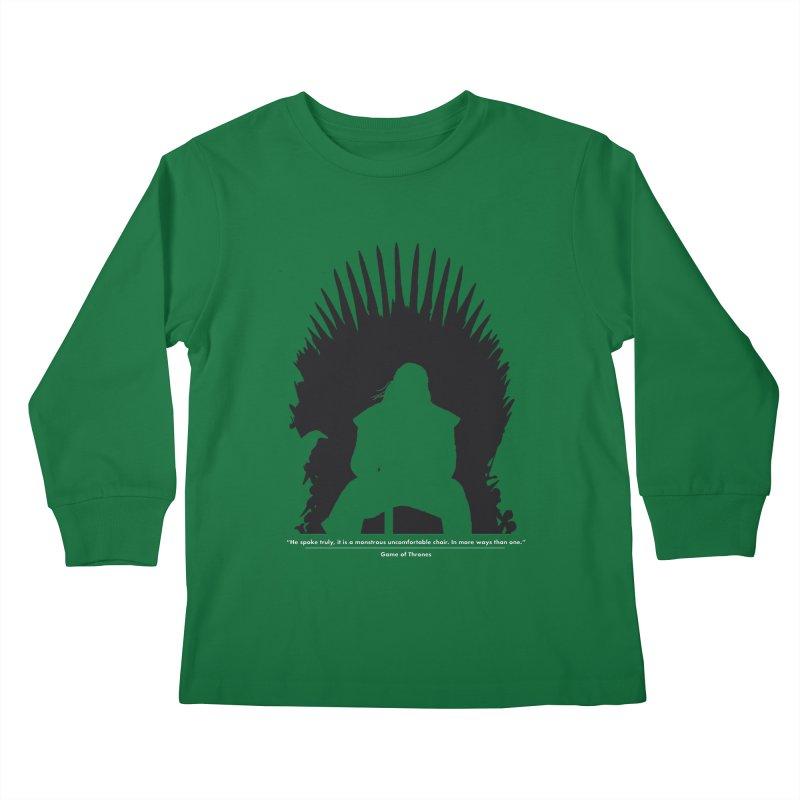 The Iron Throne Kids Longsleeve T-Shirt by Donal Mangan's Artist Shop