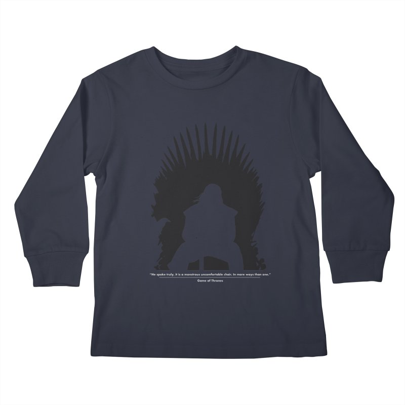 The Iron Throne Kids Longsleeve T-Shirt by Donal Mangan's Artist Shop