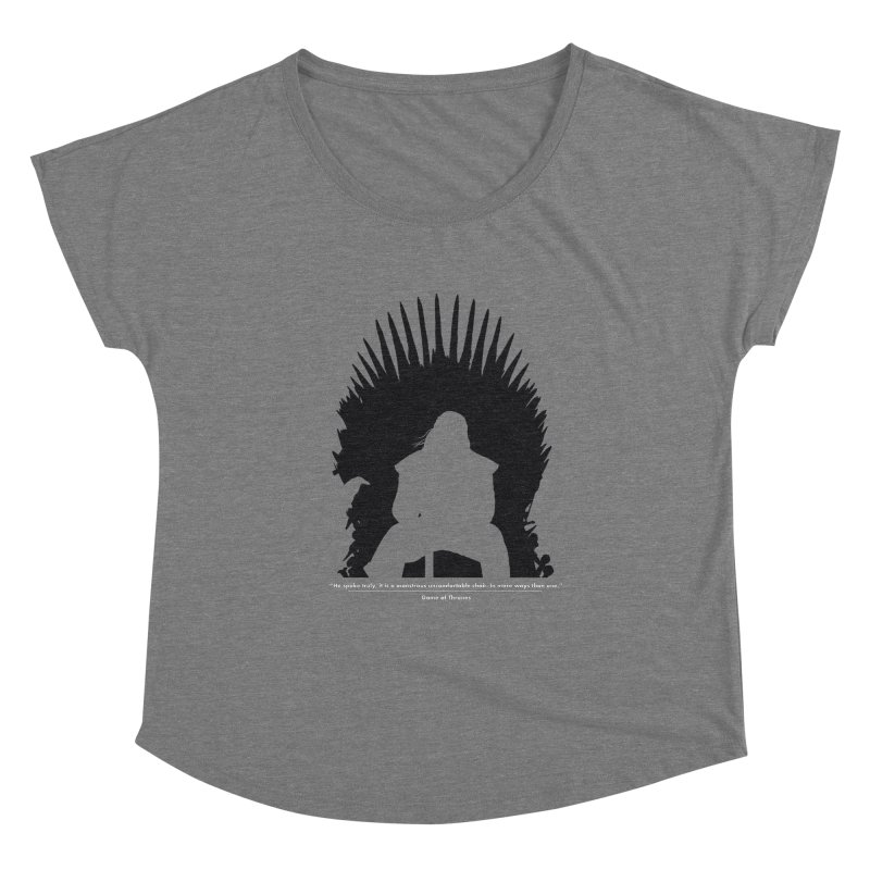 The Iron Throne Women's Scoop Neck by Donal Mangan's Artist Shop