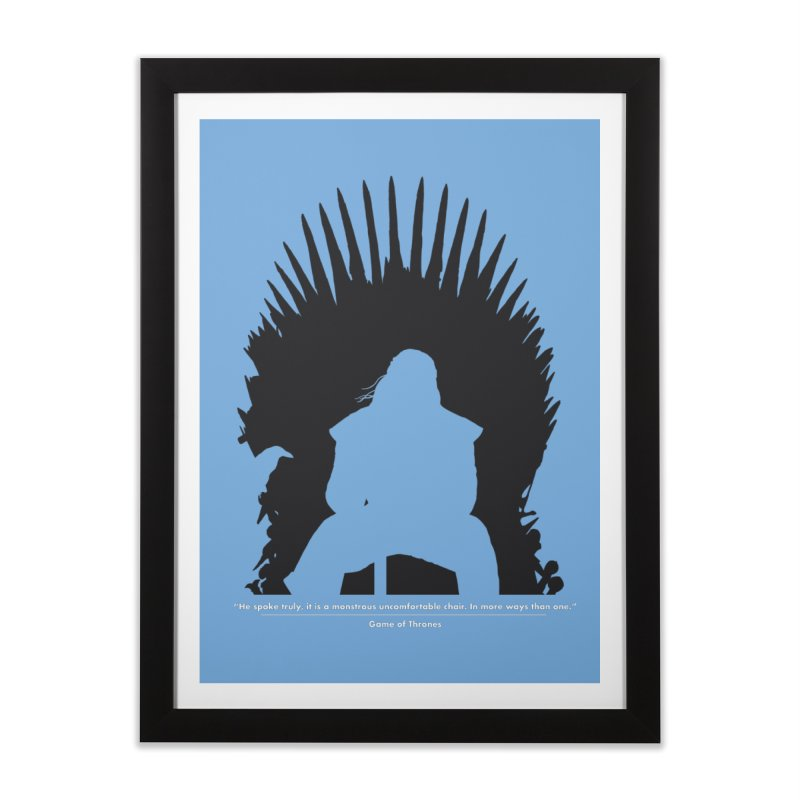 The Iron Throne Home Framed Fine Art Print by Donal Mangan's Artist Shop