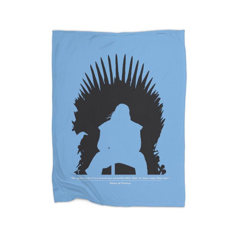The Iron Throne Home Fleece Blanket Blanket by Donal Mangan's Artist Shop