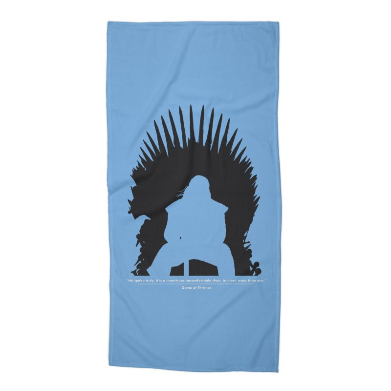 The Iron Throne Accessories Beach Towel by Donal Mangan's Artist Shop