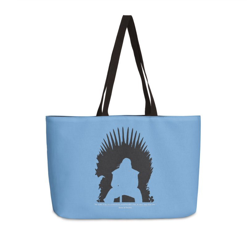 The Iron Throne Accessories Weekender Bag Bag by Donal Mangan's Artist Shop
