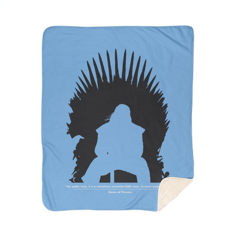 The Iron Throne Home Blanket by Donal Mangan's Artist Shop