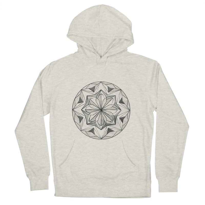 Kaleidoscope Black Men's French Terry Pullover Hoody by Donal Mangan's Artist Shop