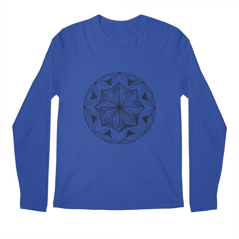 Kaleidoscope Black Men's Longsleeve T-Shirt by Donal Mangan's Artist Shop