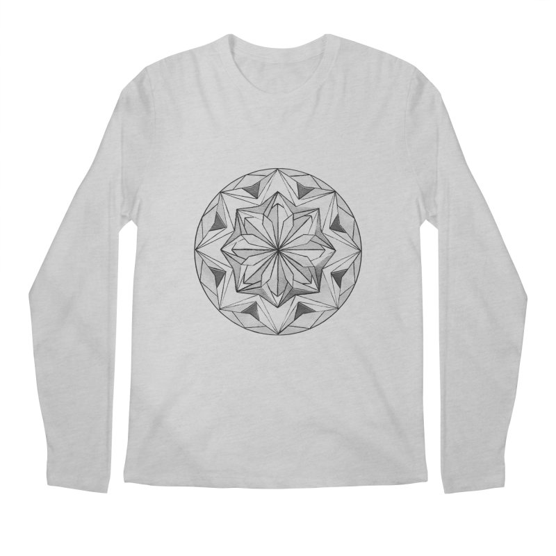 Kaleidoscope Black Men's Regular Longsleeve T-Shirt by Donal Mangan's Artist Shop
