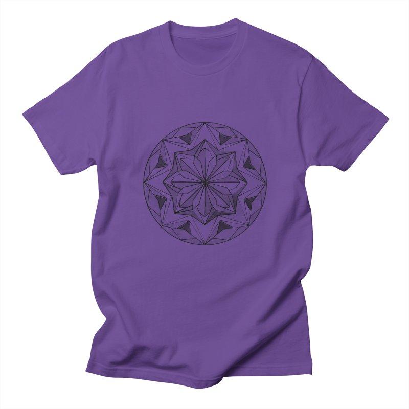 Kaleidoscope Black Men's T-Shirt by Donal Mangan's Artist Shop