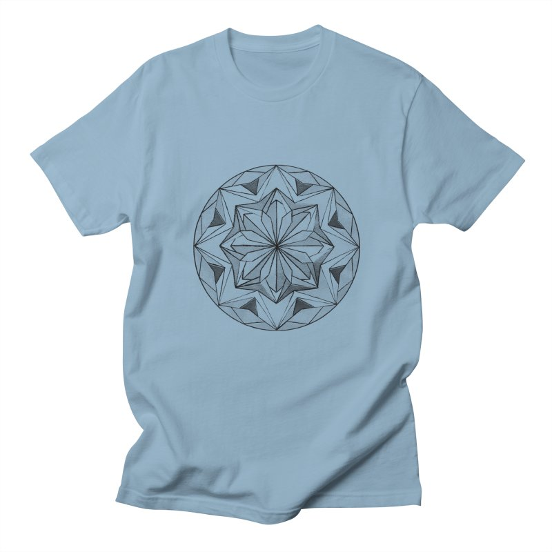Kaleidoscope Black Women's Unisex T-Shirt by Donal Mangan's Artist Shop