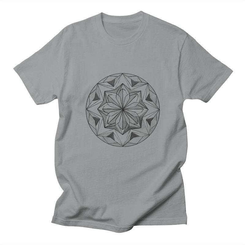 Kaleidoscope Black Women's Regular Unisex T-Shirt by Donal Mangan's Artist Shop