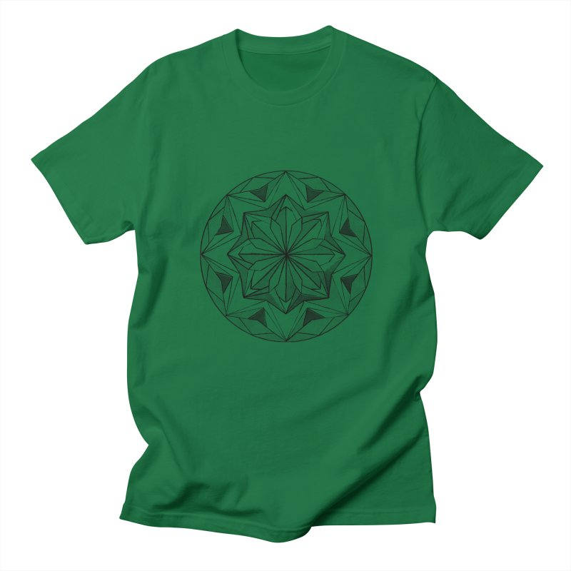 Kaleidoscope Black Women's Regular Unisex T-Shirt by Donal Mangan's Artist Shop