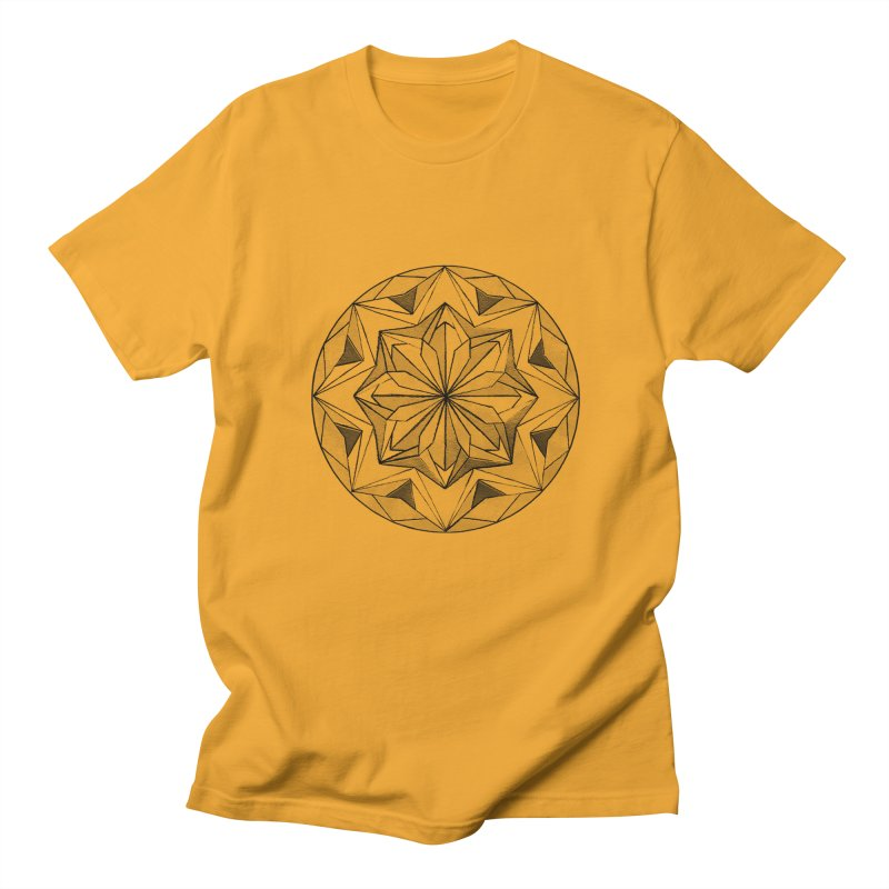 Kaleidoscope Black Men's T-shirt by Donal Mangan's Artist Shop