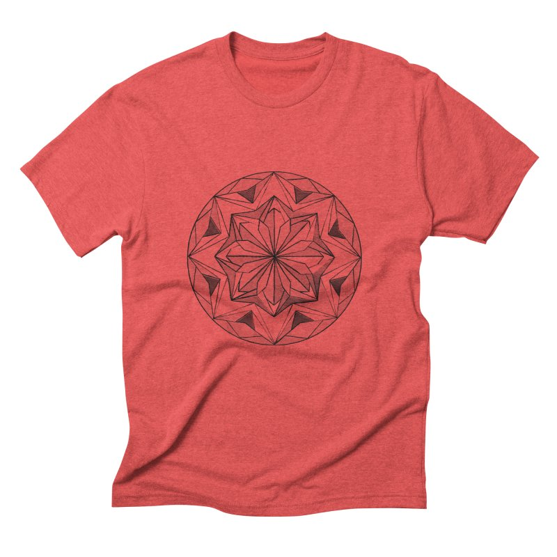 Kaleidoscope Black Men's Triblend T-Shirt by Donal Mangan's Artist Shop
