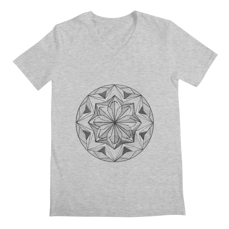 Kaleidoscope Black Men's V-Neck by Donal Mangan's Artist Shop