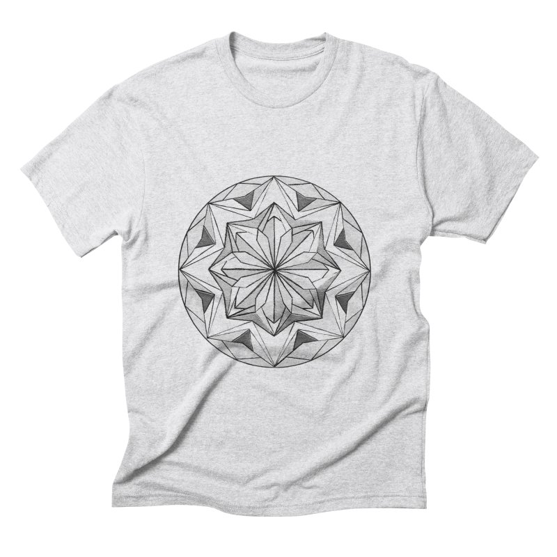 Kaleidoscope Black Men's Triblend T-shirt by Donal Mangan's Artist Shop