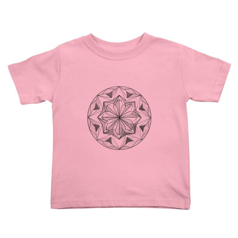 Kaleidoscope Black Kids Toddler T-Shirt by Donal Mangan's Artist Shop