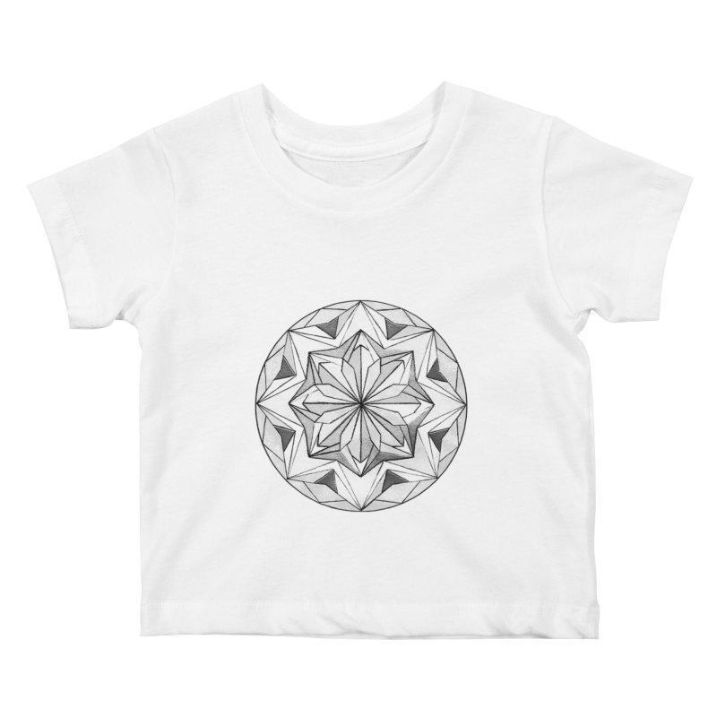 Kaleidoscope Black Kids Baby T-Shirt by Donal Mangan's Artist Shop