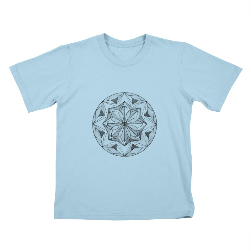 Kaleidoscope Black Kids T-Shirt by Donal Mangan's Artist Shop