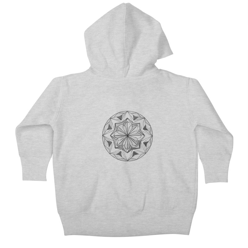 Kaleidoscope Black Kids Baby Zip-Up Hoody by Donal Mangan's Artist Shop