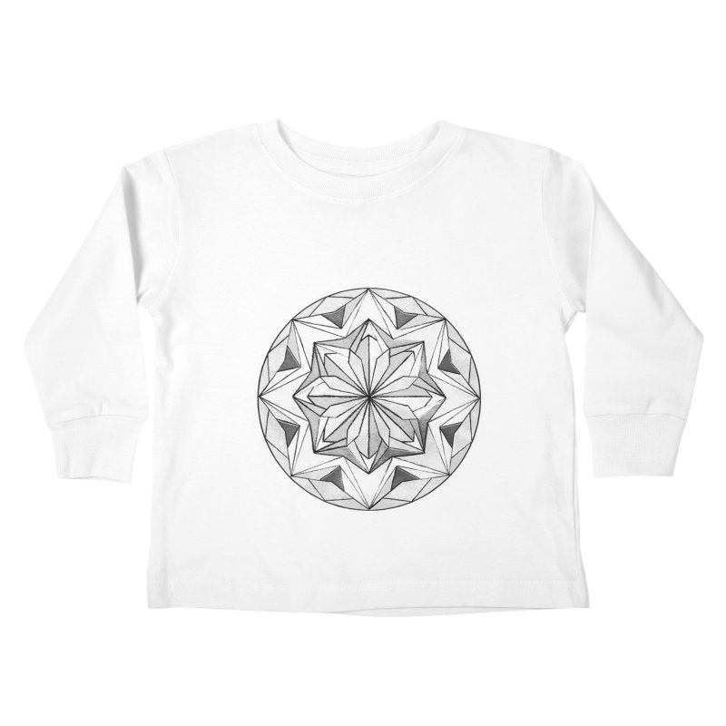 Kaleidoscope Black Kids Toddler Longsleeve T-Shirt by Donal Mangan's Artist Shop
