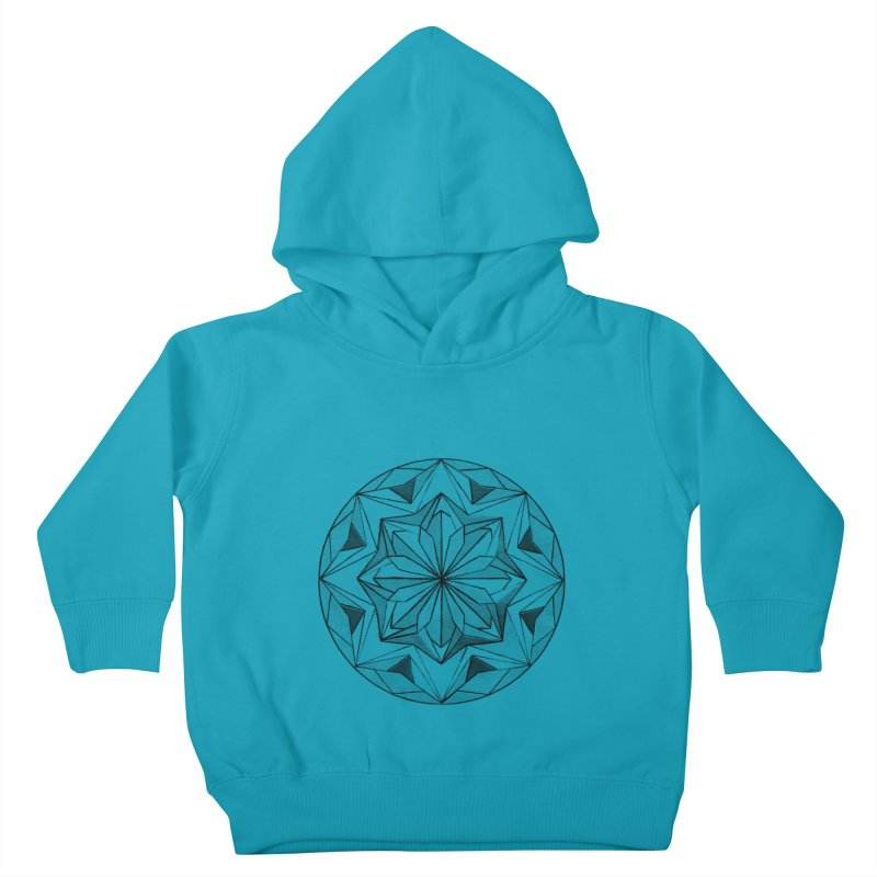 Kaleidoscope Black Kids Toddler Pullover Hoody by Donal Mangan's Artist Shop