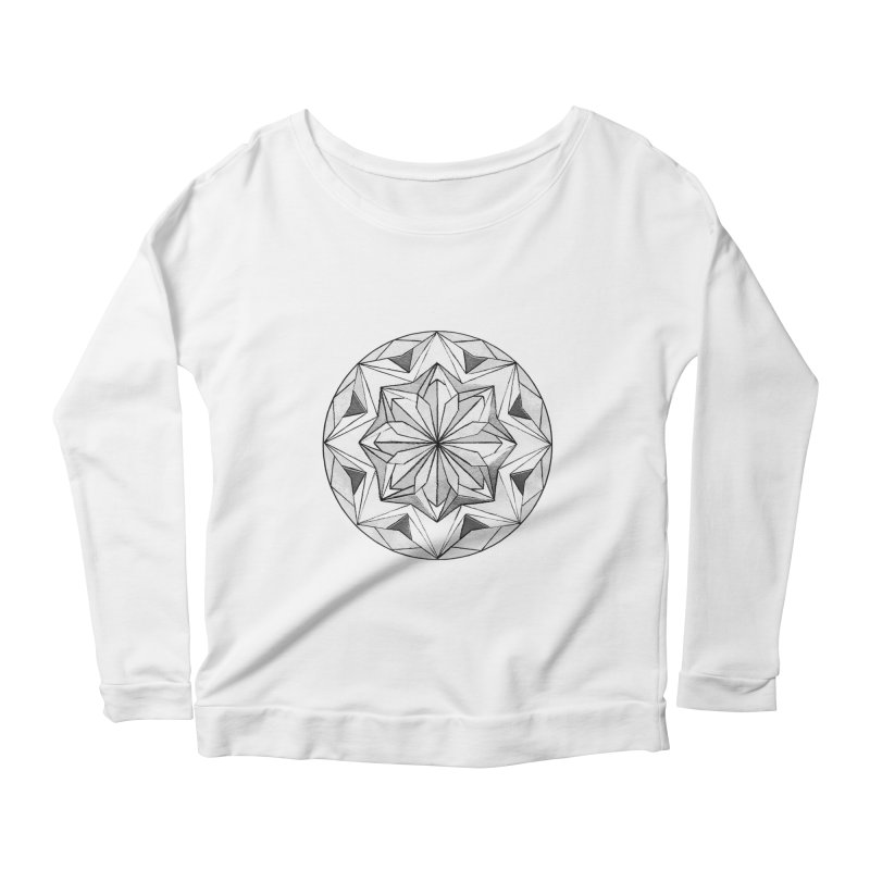 Kaleidoscope Black Women's Scoop Neck Longsleeve T-Shirt by Donal Mangan's Artist Shop