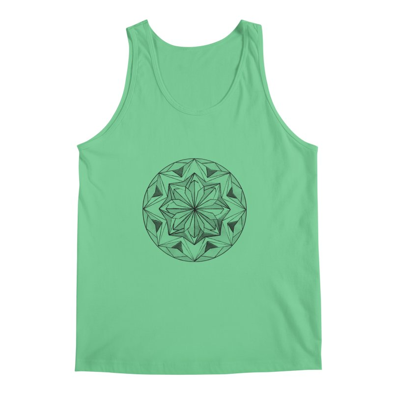 Kaleidoscope Black Men's Tank by Donal Mangan's Artist Shop