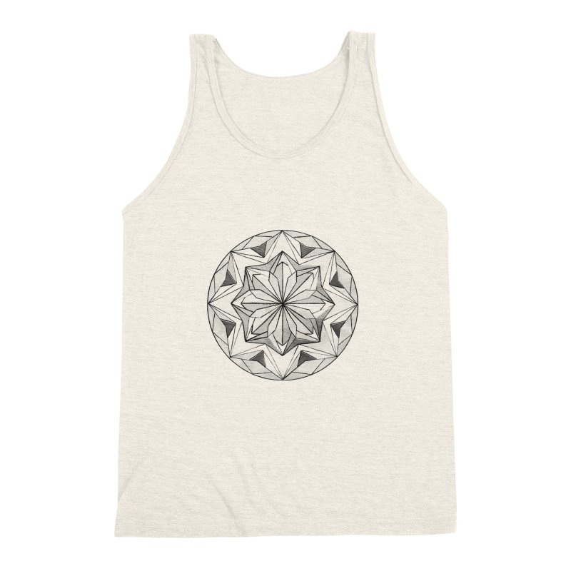 Kaleidoscope Black Men's Triblend Tank by Donal Mangan's Artist Shop
