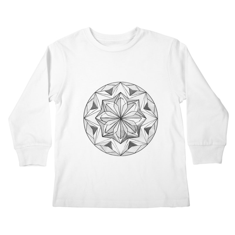 Kaleidoscope Black Kids Longsleeve T-Shirt by Donal Mangan's Artist Shop