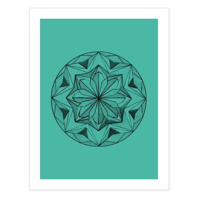 Kaleidoscope Black Home Fine Art Print by Donal Mangan's Artist Shop