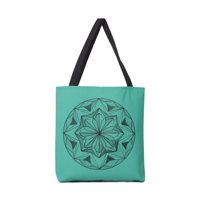 Kaleidoscope Black Accessories Bag by Donal Mangan's Artist Shop