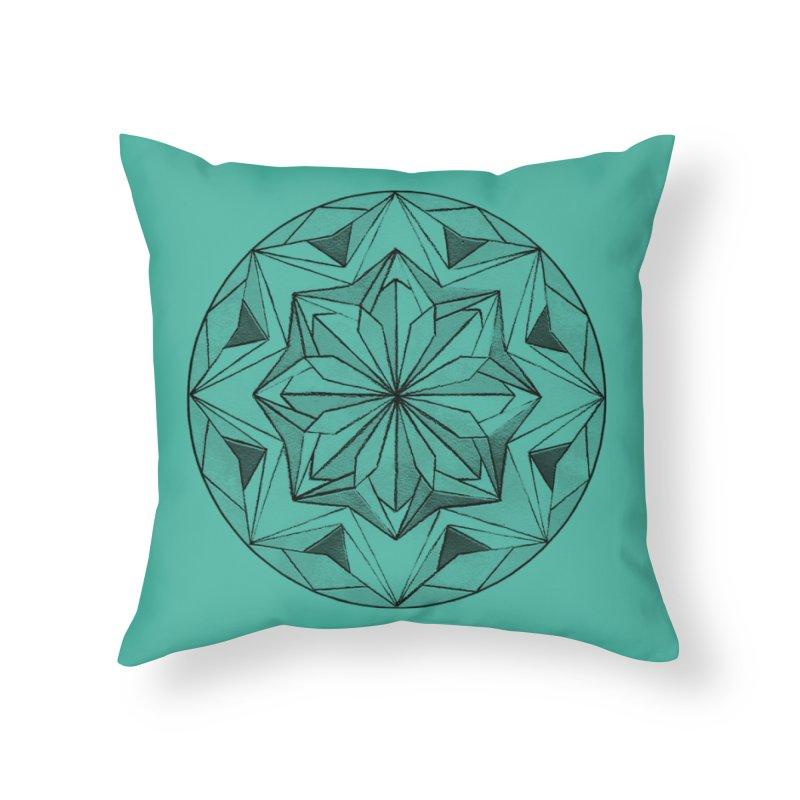 Kaleidoscope Black Home Throw Pillow by Donal Mangan's Artist Shop