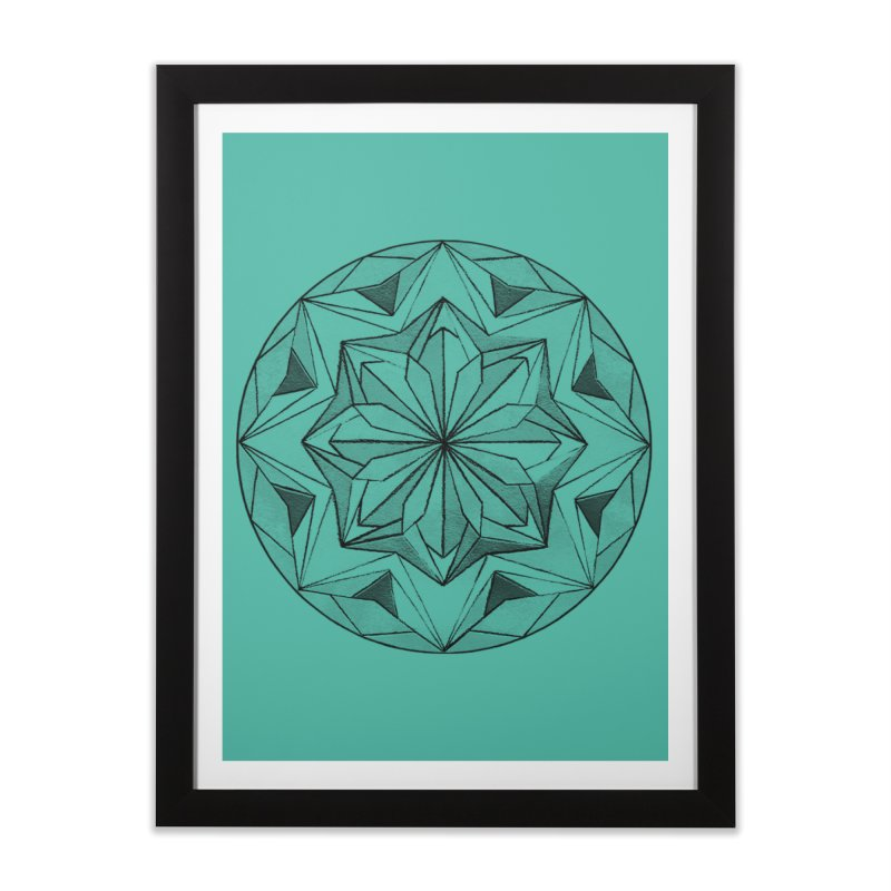 Kaleidoscope Black Home Framed Fine Art Print by Donal Mangan's Artist Shop