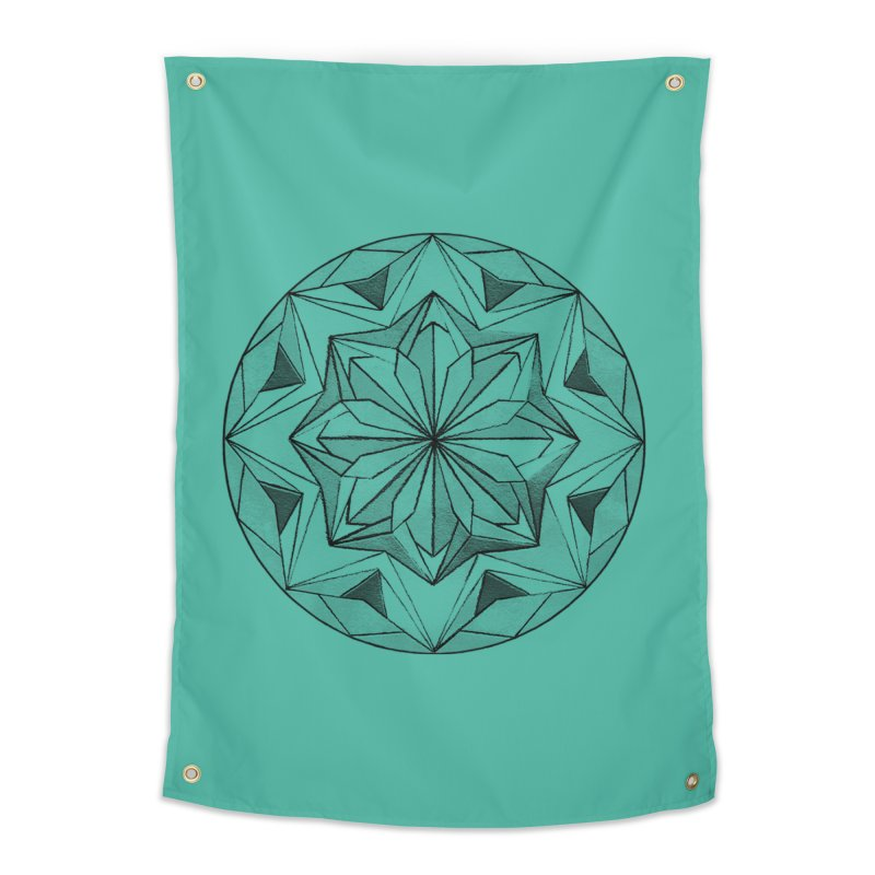 Kaleidoscope Black Home Tapestry by Donal Mangan's Artist Shop