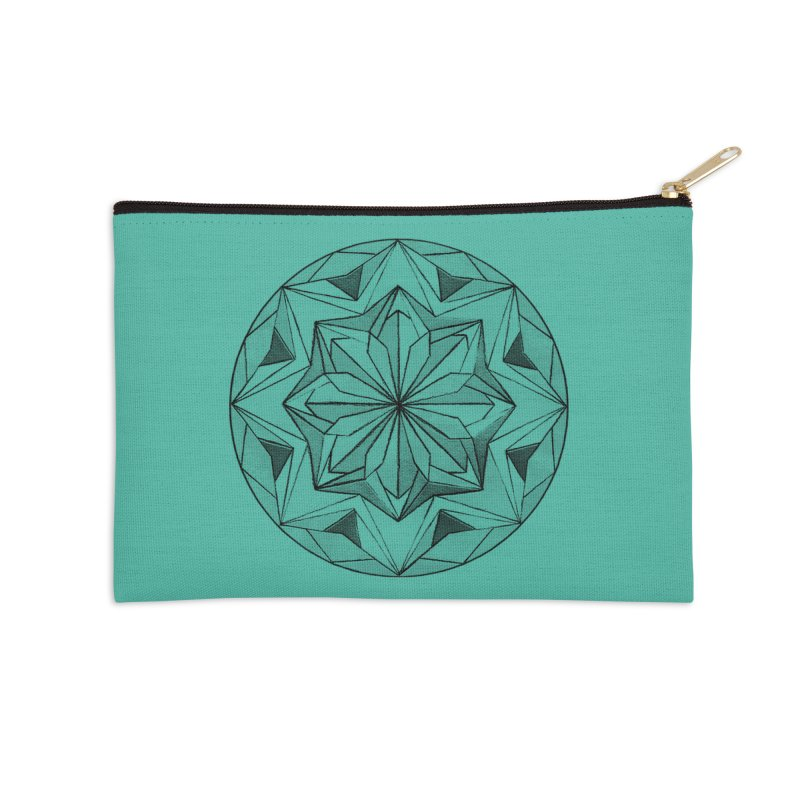 Kaleidoscope Black Accessories Zip Pouch by Donal Mangan's Artist Shop