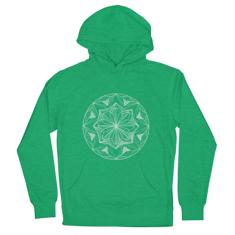 Kaleidoscope White Women's French Terry Pullover Hoody by Donal Mangan's Artist Shop