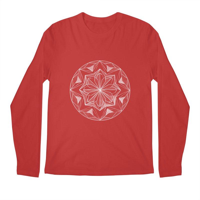 Kaleidoscope White Men's Longsleeve T-Shirt by Donal Mangan's Artist Shop