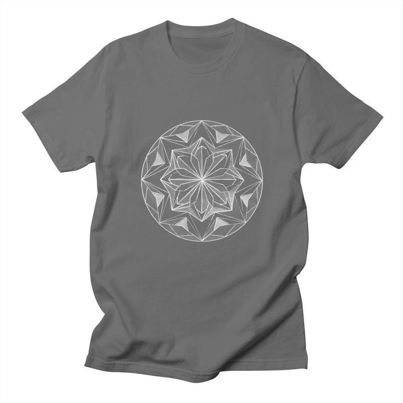 Kaleidoscope White Men's T-Shirt by Donal Mangan's Artist Shop