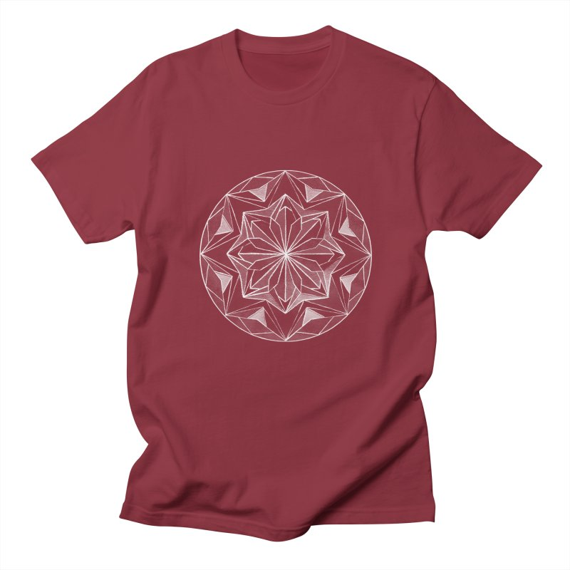 Kaleidoscope White Women's Unisex T-Shirt by Donal Mangan's Artist Shop