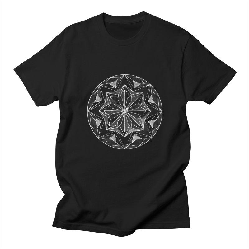 Kaleidoscope White Men's T-Shirt by Donal Mangan's Artist Shop