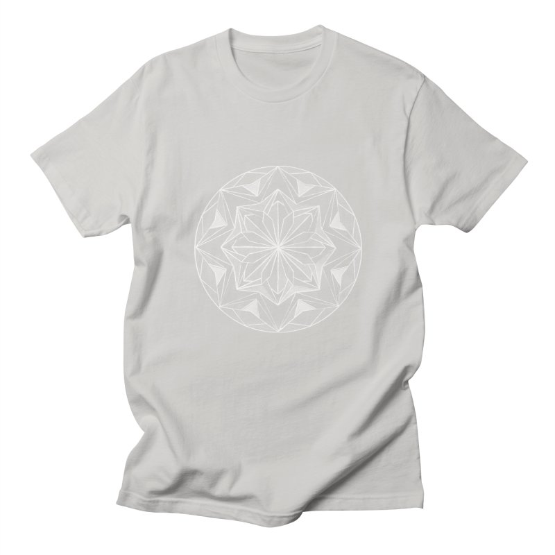 Kaleidoscope White Women's Regular Unisex T-Shirt by Donal Mangan's Artist Shop