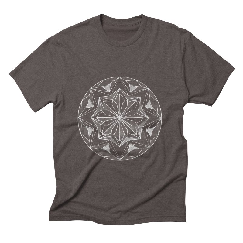 Kaleidoscope White Men's Triblend T-shirt by Donal Mangan's Artist Shop