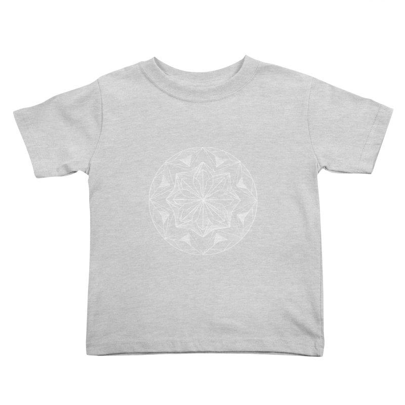 Kaleidoscope White Kids Toddler T-Shirt by Donal Mangan's Artist Shop