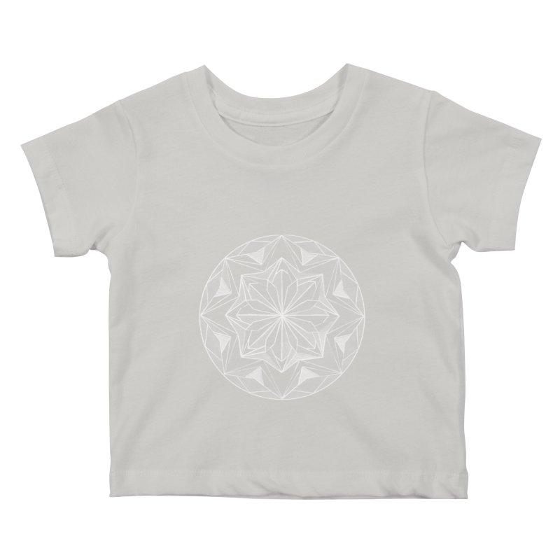 Kaleidoscope White Kids Baby T-Shirt by Donal Mangan's Artist Shop