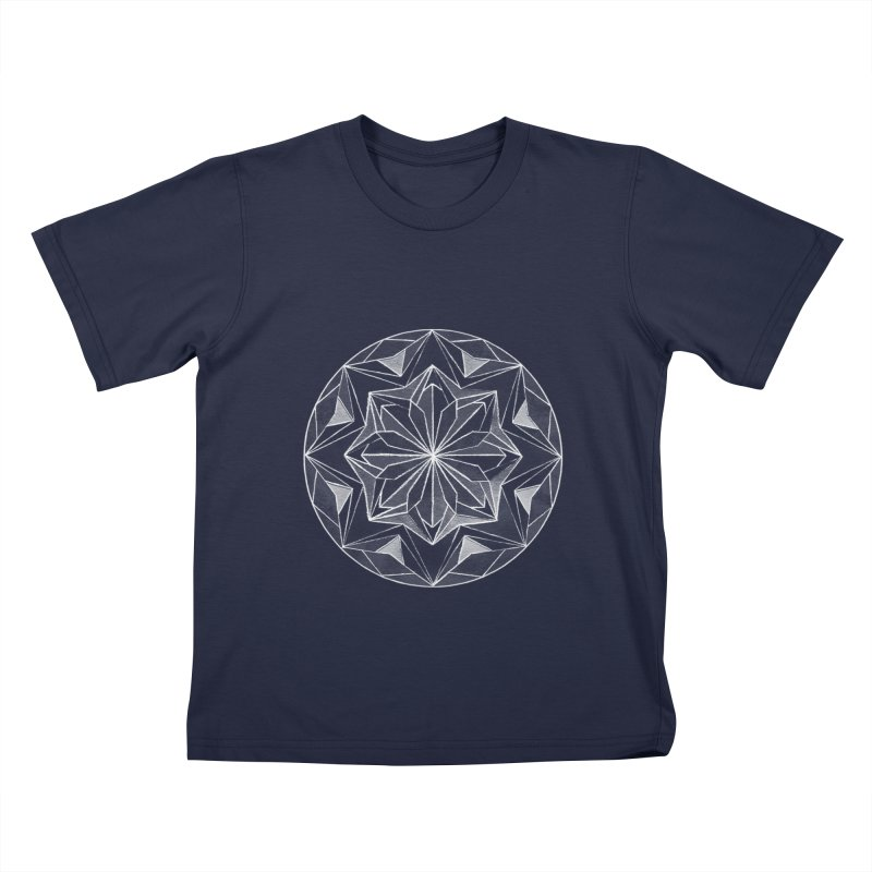 Kaleidoscope White Kids T-Shirt by Donal Mangan's Artist Shop