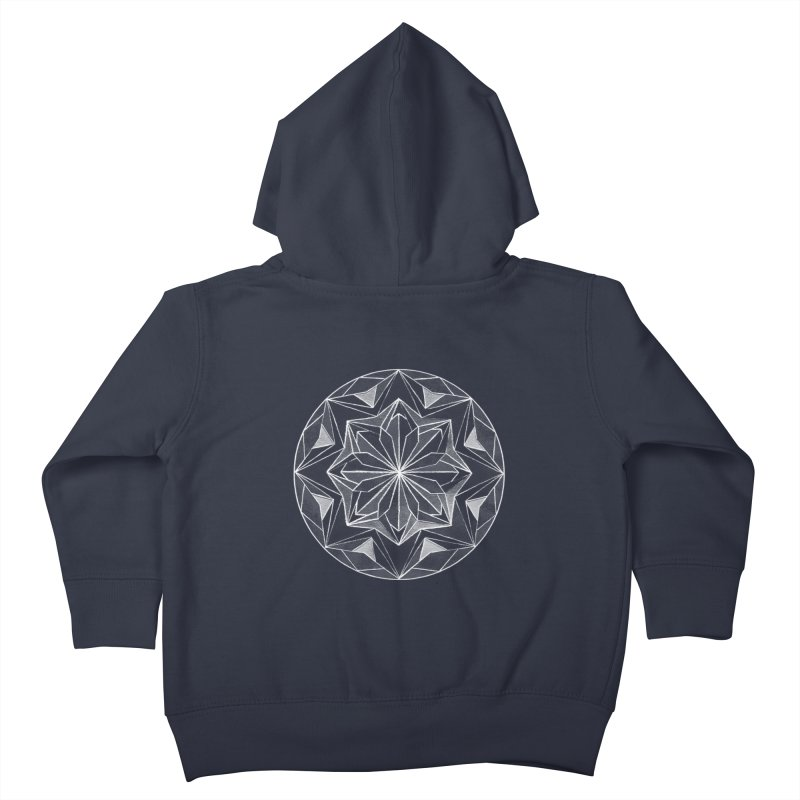 Kaleidoscope White Kids Toddler Zip-Up Hoody by Donal Mangan's Artist Shop